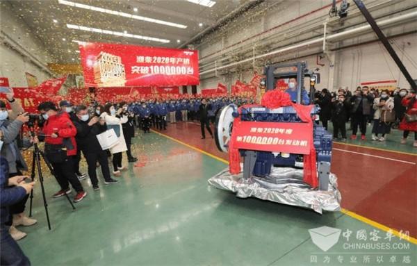 1000000台!潍柴发动机总销量首次迈入全球第一