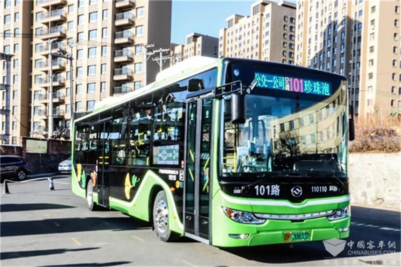 黄海新能源公交上线丹东101路