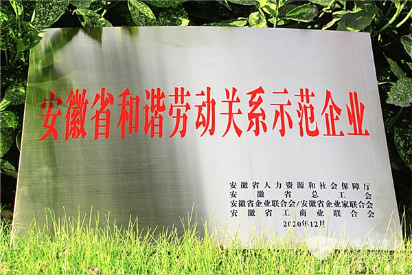"""喜报!安凯客车获评""""安徽省和谐劳动关系示范企业""""荣誉称号"""