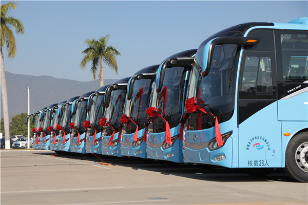陕西省汉中市汽车运输总公司喜迎批量金龙捷冠3T