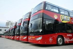 """解锁""""鹭岛""""国庆旅游新玩法,安凯双层观光巴士入驻厦门"""