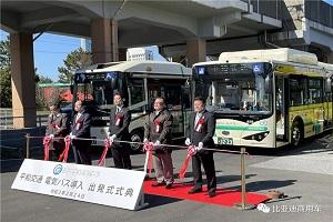 驶进日本千叶县 比亚迪首次向日本交付大型电动客车K8