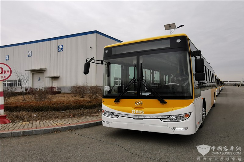 黄海新能源公交车批量交付韩国