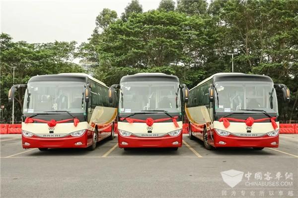 25辆安凯纯电动A6交付广汽交通 赋能包车客运服务品质升级