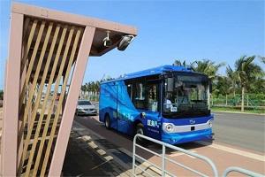 海南首个!海口无人驾驶公交车开通试运行