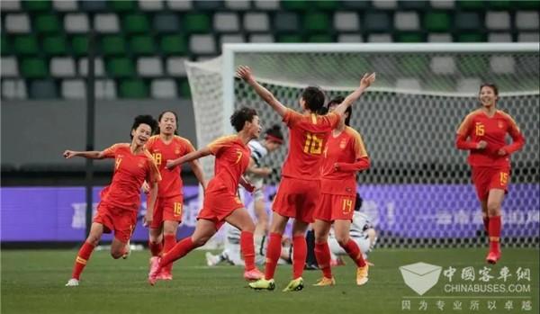 中国女足成功晋级东京奥运会 宇通实力护航顶级赛事