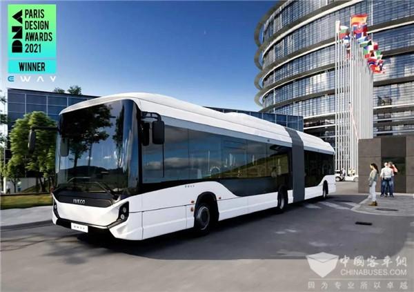 活力 自信 定制 依维柯电动客车荣获2021法国巴黎DNA设计大奖