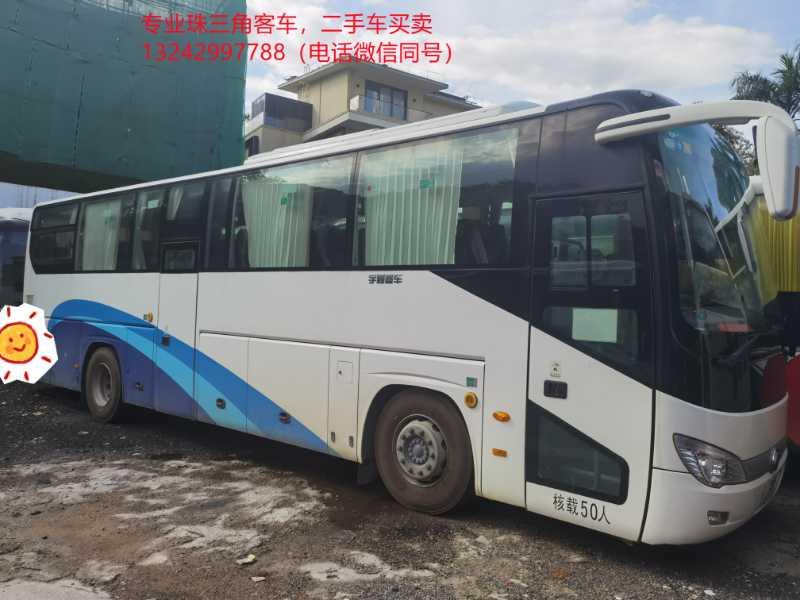 2018年8月 一手非营运50座国五气囊中门宇通6119型客车