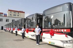 陕西榆林市民幸福事:亚星客车正式投入104路公交线路运营