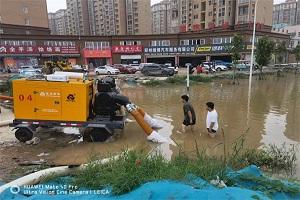 闻汛而动!东风康明斯泵用发动机专车支援郑州
