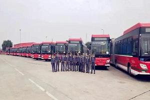 以品质助巴基斯坦公交转型升级 64台福田欧辉BRT公交交付拉合尔