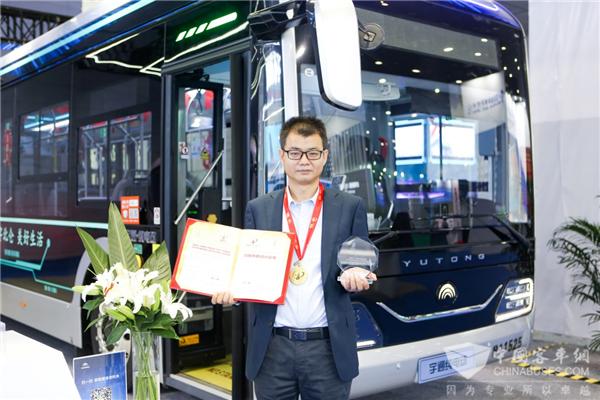 """中国专利界最高荣誉! 宇通""""宇威""""造型公交荣获外观设计金奖"""
