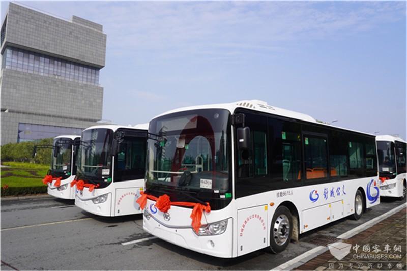 安凯G9纯电动客车批量交付舒城