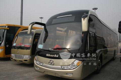 舒驰客车携两款经典公交扮靓天津国际客车展