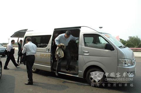 海格公务商旅送参会嘉宾到机场