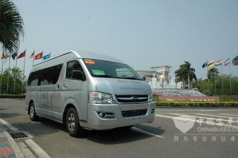 海格商务车在博鳌亚洲论坛会议中心