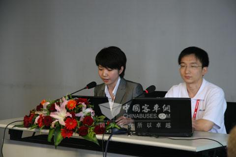 宇通在2010世界客车联盟年度大奖评审现场