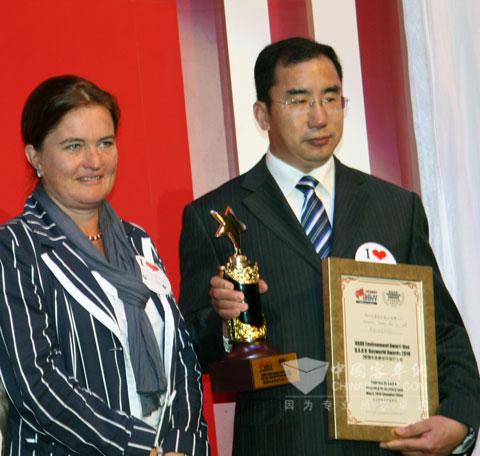 中通客车LCK6101GPHEV荣获2010世界客车联盟年度最佳环保巴士奖