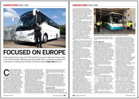 英国客车行业主流媒体《ROUTE ONE》报道截图