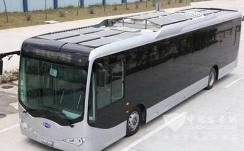 比亚迪纯电动客车即将进入新加坡市场高清图片