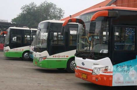 探访开封公交与江淮客车底盘在汴京之合高清图片