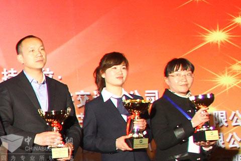 蜀都客车荣获2012 CIBC年度客车亚军奖