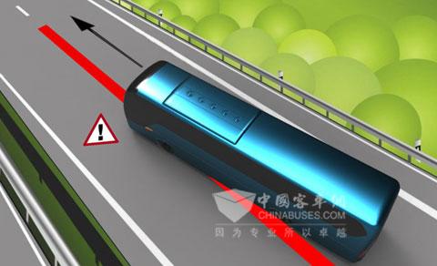 车道偏离报警系统原理图-大金龙力推主动安全技术 让客车远离危险图片