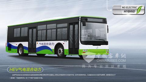 金旅混合动力客车已经成功推广到北京、杭州、昆明、厦门、泉高清图片