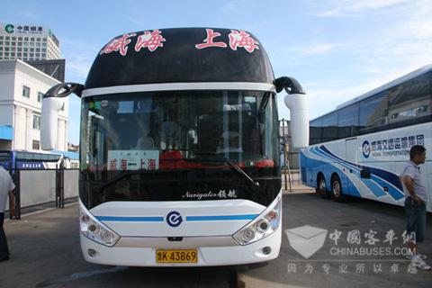 威海至上海运营的代卧客车