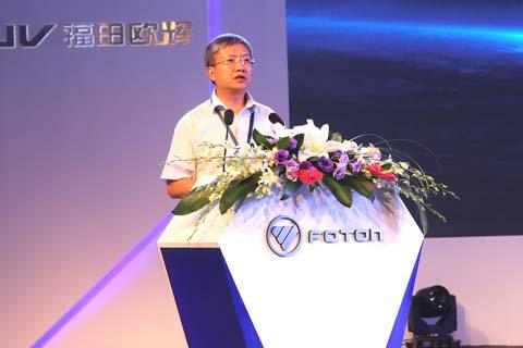 中国道路运输协会城市客运分会秘书长胡剑平先生致辞