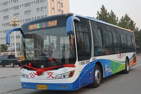 具体分配线路为:k1路公交车9部;k8路公交车2部;k9路公交车8部;k19