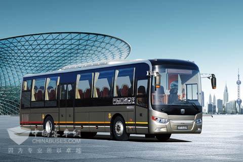 国内首款专用定制公交中通商务巴士亮相北京图片