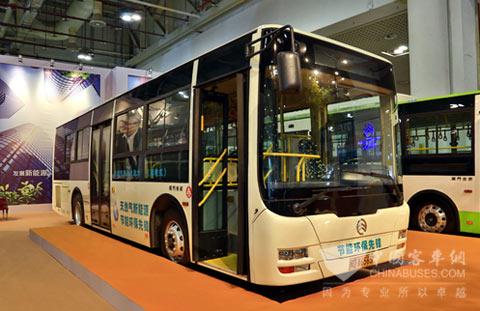 标志着金旅插电混合动力客车成功获取新能源市场的准入条件.高清图片