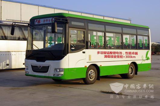 少林7米电动公交满载续驶里程大于300km