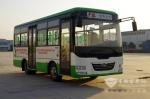 少林7米纯电动公交载满人 续驶300公里SOC还留20%