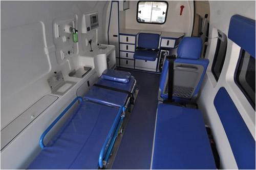 救护车内部简笔画