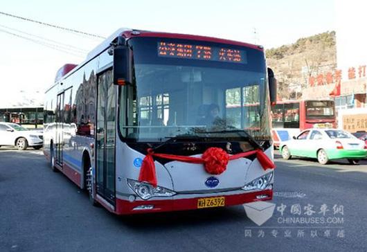 10年前的清远公共汽车-比亚迪纯电动公交车在承德上路运营高清图片