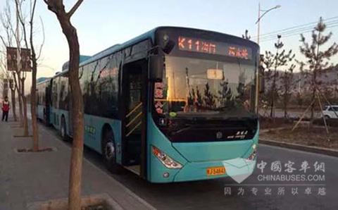 松正新能源公交车首次亮相延安