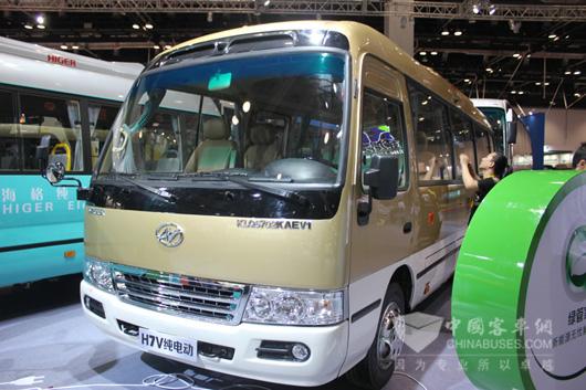 —海格h7v智能版公务客车和h7v纯电动公交车,犹如不同风格的一对