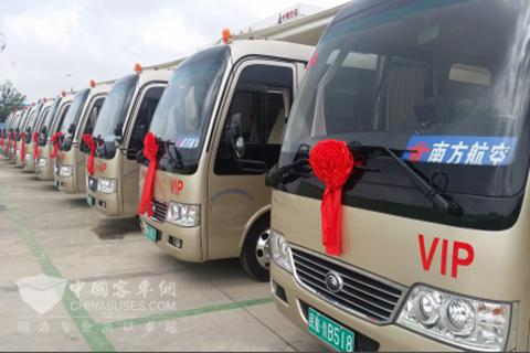 宇通纯电动客车将为青岛机场贵宾车队服务