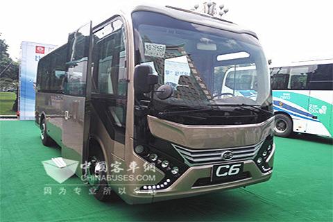 比亚迪C6纯电动客车-比亚迪首提出 道路客运电动化解决方案高清图片