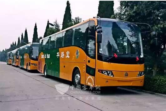 西沃客车批量交付深圳宝路华运输集团