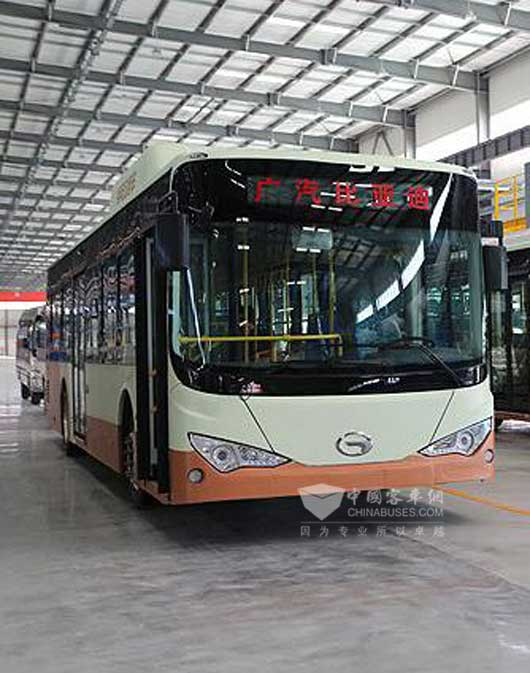 广汽比亚迪纯电动客车拿下广州公交400辆订单高清图片