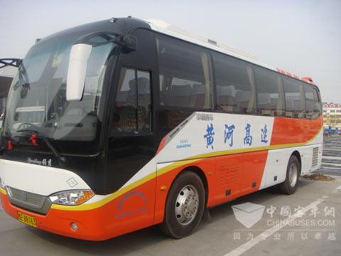 山东 东营/山东东营长途客车站内的L/CNG客车