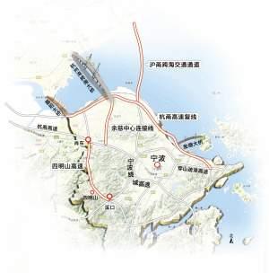 杭州等地的对外通道,线路沿着杭州湾南岸从西往东,依次连接钱江通道