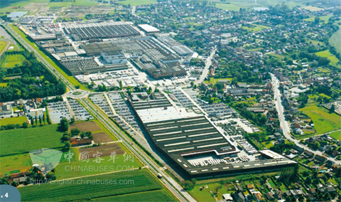 VanHool公司在比利时Koningshooikt生产总部鸟瞰图