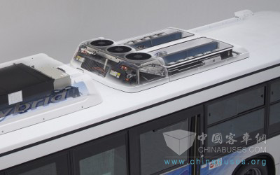 公交车用的电装新型空调系统;