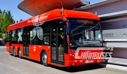 范·胡尔五台燃料电池大巴服务奥斯陆