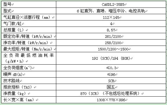 锡柴ca6dl2-35e5国五柴油机