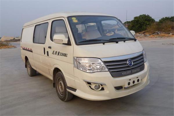 金旅XML5036XXYEVG0纯电动厢式运输车